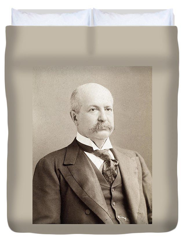 19th Century Duvet Cover featuring the photograph Peter by Granger