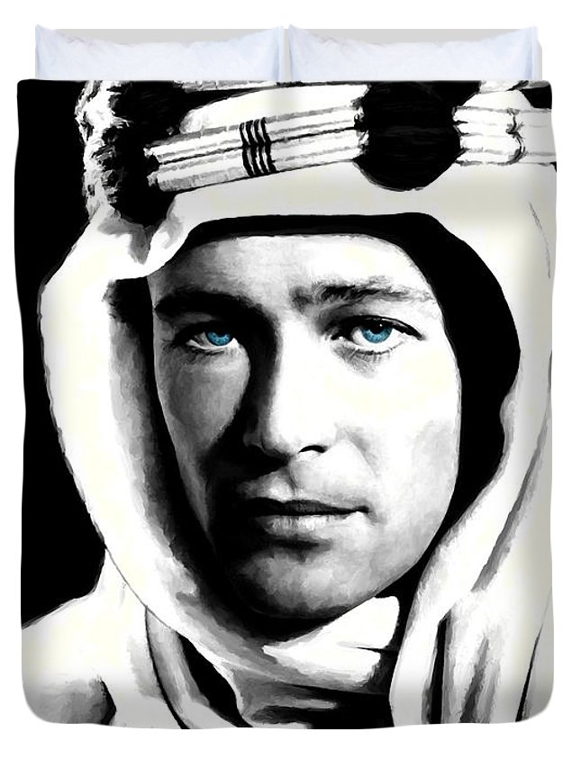Peter O'toole Duvet Cover featuring the digital art Peter O'Toole Portrait by Gabriel T Toro