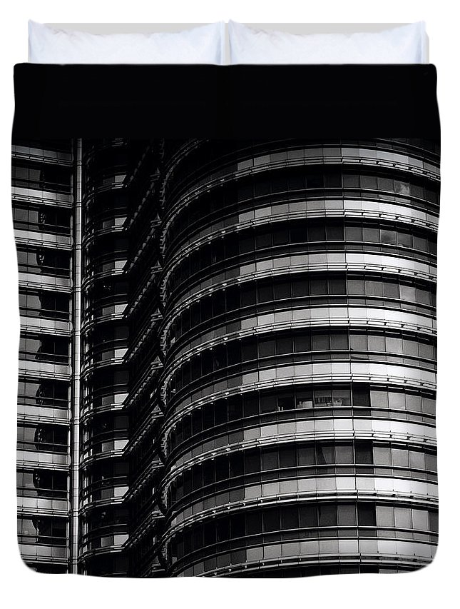 Petronas Towers Duvet Cover featuring the photograph Petronas Detail by Shaun Higson