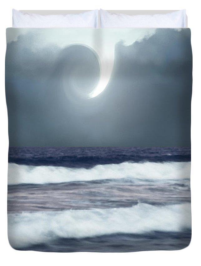 Phenomenon Above Sea Duvet Cover featuring the photograph Phenomenon Above The Sea by Kellice Swaggerty