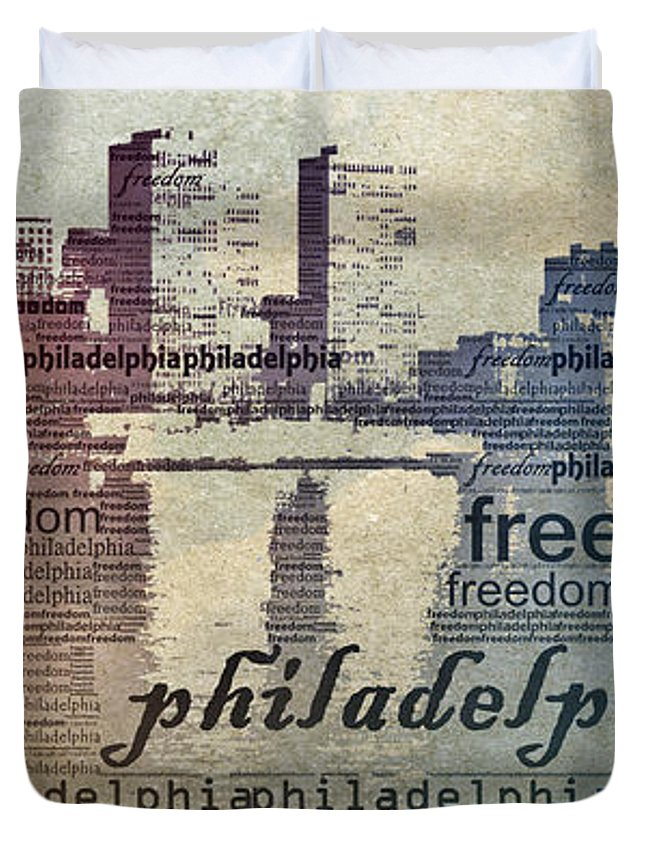 Philadelphia Duvet Cover featuring the photograph Philadelphia Freedom by Trish Tritz