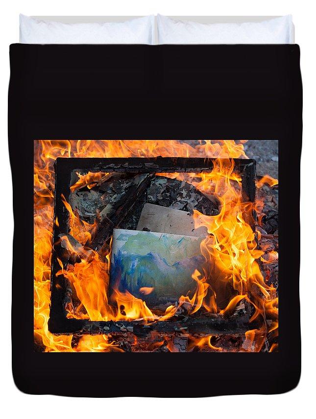 Fire Duvet Cover featuring the photograph Phoenix by Aaron Aldrich