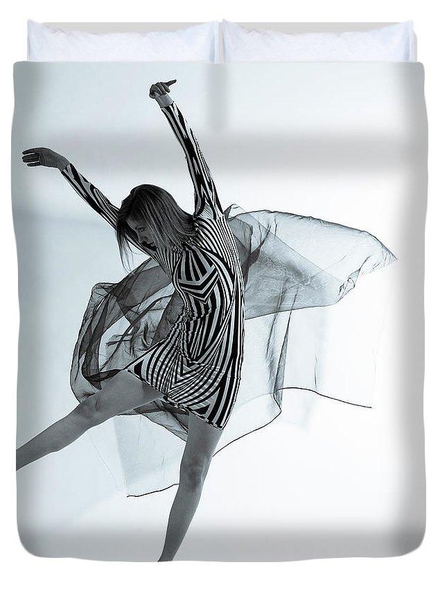 Ballet Dancer Duvet Cover featuring the photograph Photofusion Shoot Jan 2013 by Maya De Almeida Araujo