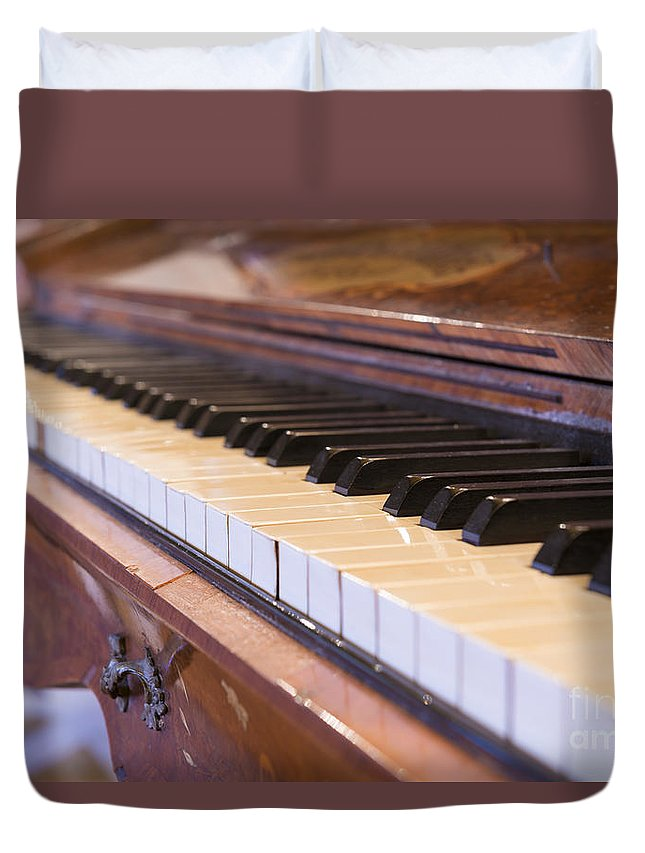 Piano Duvet Cover featuring the photograph Piano by Mats Silvan