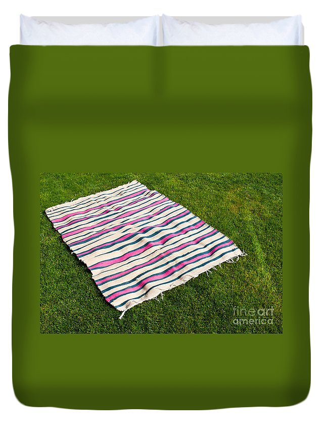 Picnic Duvet Cover featuring the photograph Picnic Blanket by Luis Alvarenga