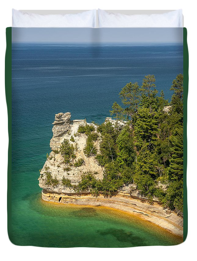 Pictured Rocks National Lakeshore Duvet Cover featuring the photograph Pictured Rocks National Lakeshore by Sebastian Musial