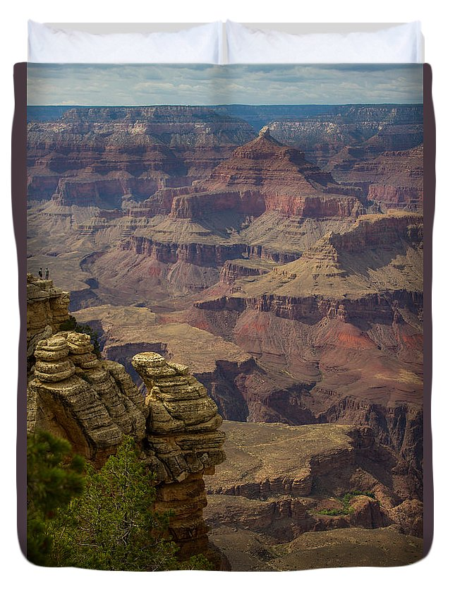 Sunrise Duvet Cover featuring the photograph Picturesque View Of The Grand Canyon by Kathleen Odenthal