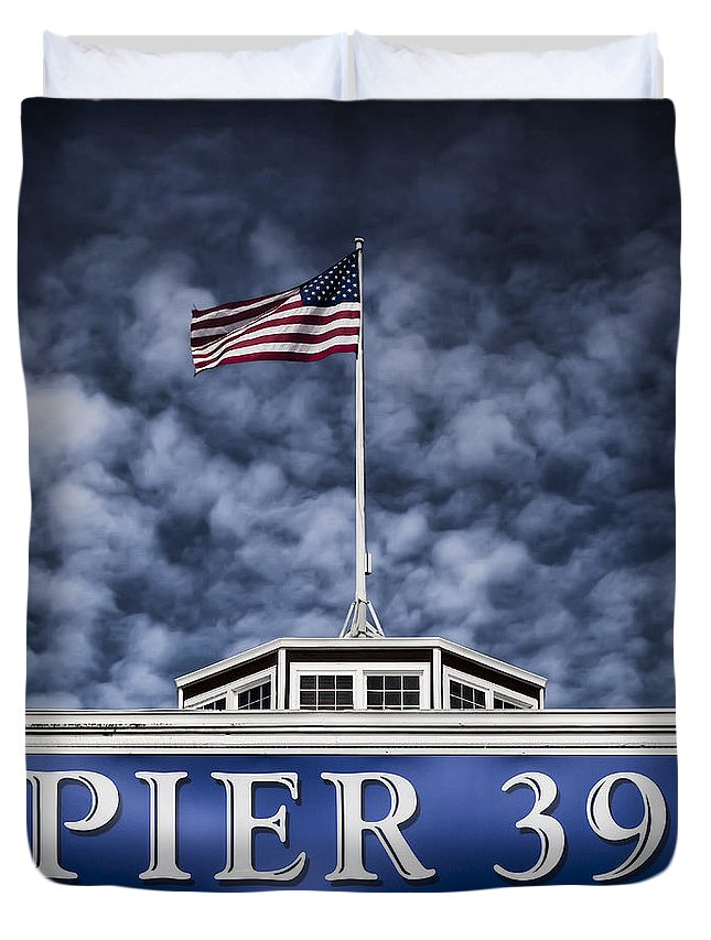 Pier 39 Duvet Cover featuring the photograph Pier 39 by Dave Bowman