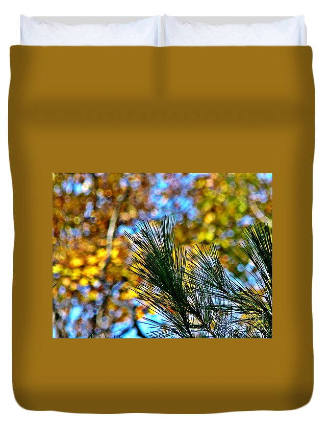 Pine Duvet Cover featuring the photograph Pine Bouquet 2 by Chris Sotiriadis
