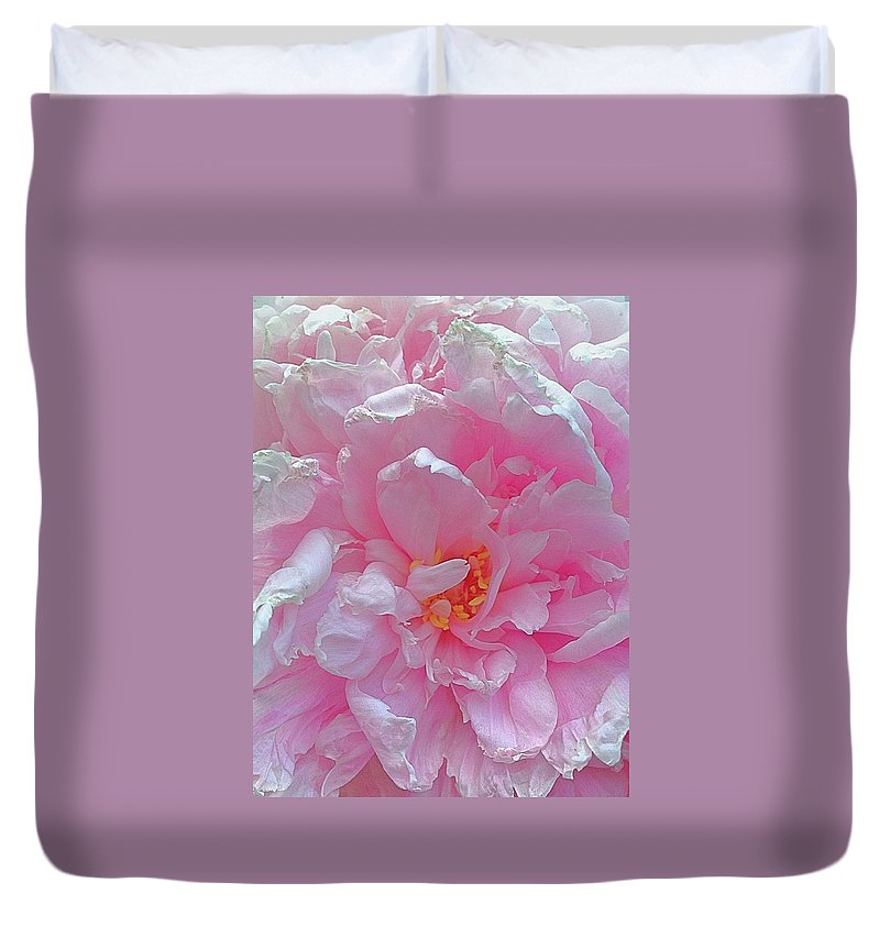 Fluffy Duvet Cover featuring the photograph Pink Chiffon by Gillis Cone