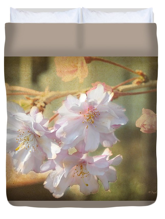 Popular Duvet Cover featuring the photograph Pink Delight by Paulette B Wright