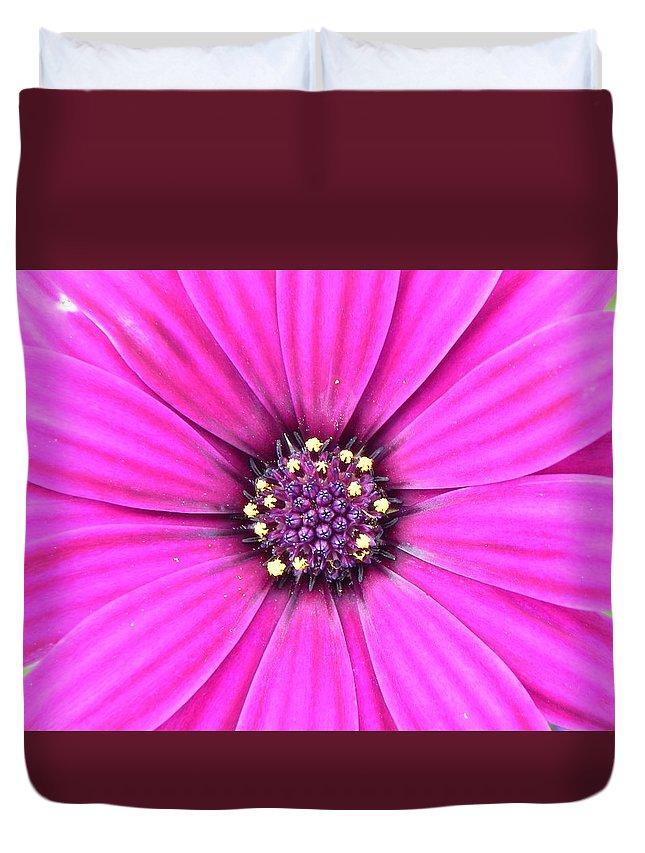Geranium Duvet Cover featuring the photograph Pink Geranium by FL collection