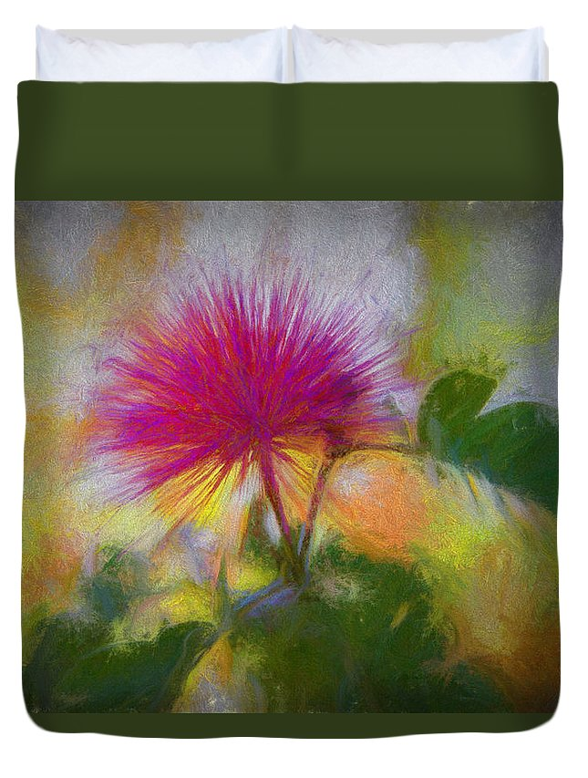 Flowers Duvet Cover featuring the photograph Vivid by Lori Figueroa