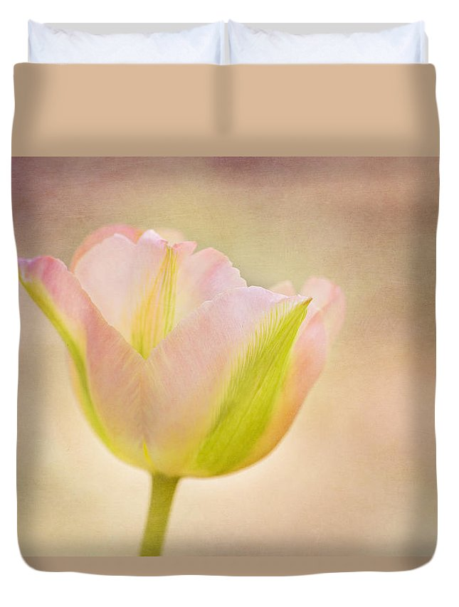 Tulip Duvet Cover featuring the photograph Pink Spring Dreams by Mary Jo Allen
