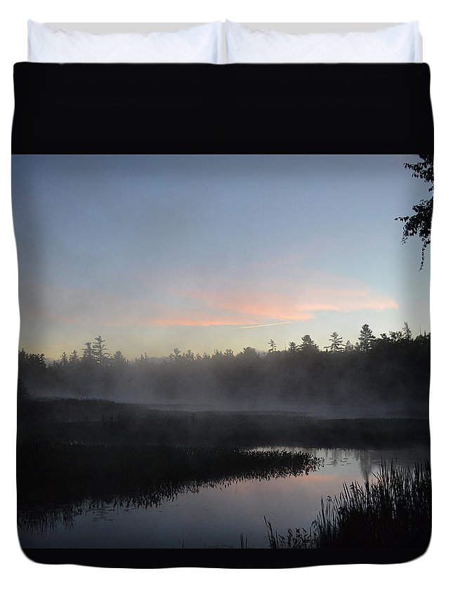 Fog Duvet Cover featuring the photograph Pink Tint by Thomas Phillips