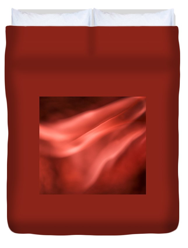 Ignition Duvet Cover featuring the photograph Pinky Red by Steven Poulton