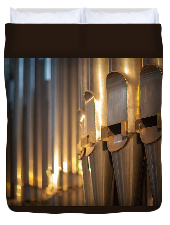 High Duvet Cover featuring the photograph Pipes by Ralf Kaiser