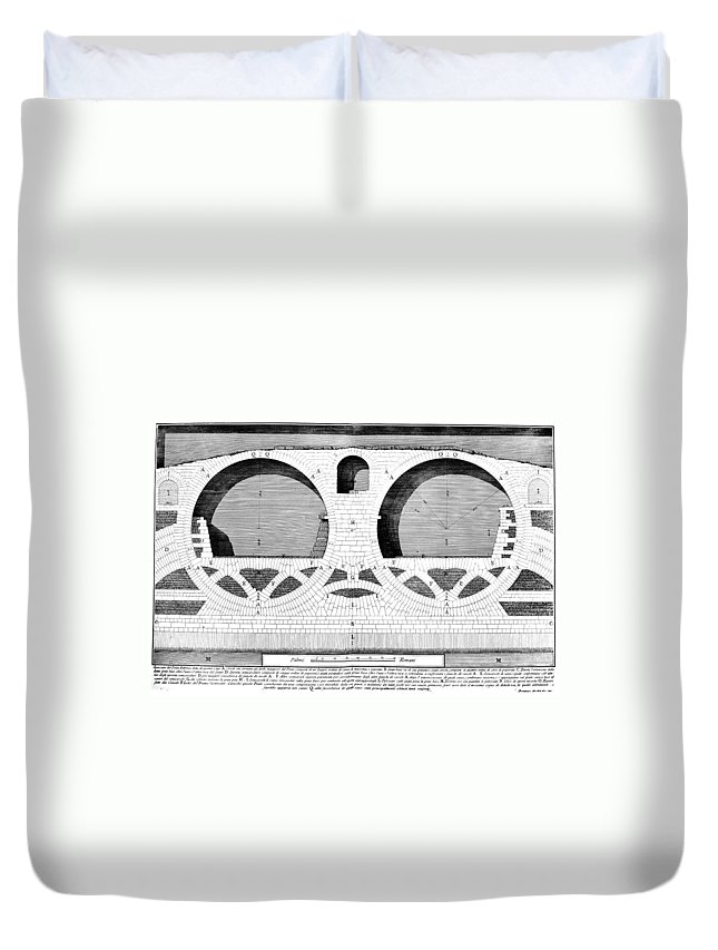1756 Duvet Cover featuring the photograph Piranesi: Ponte Fabrizio by Granger