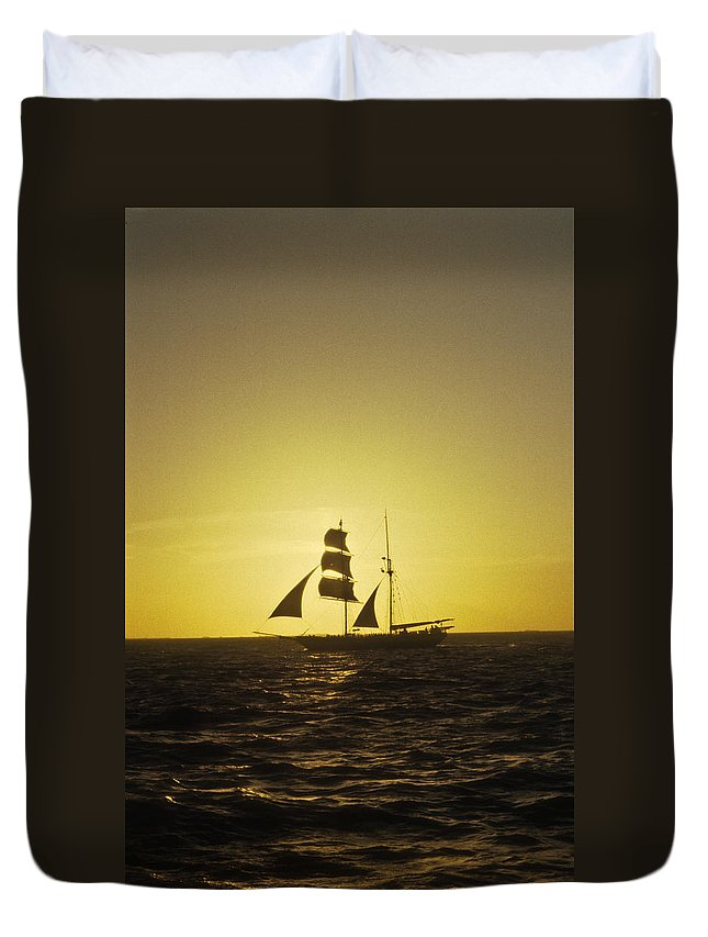 Pirates Duvet Cover featuring the photograph Pirates At Sea - Caribbean by Douglas Barnett