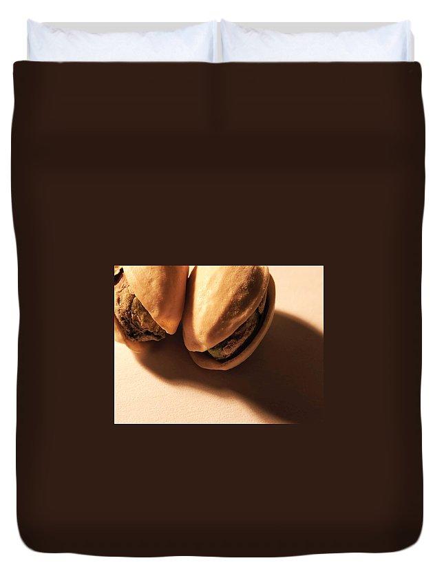 Pistachio Duvet Cover featuring the photograph Pistachio Friends by Tim Beebe