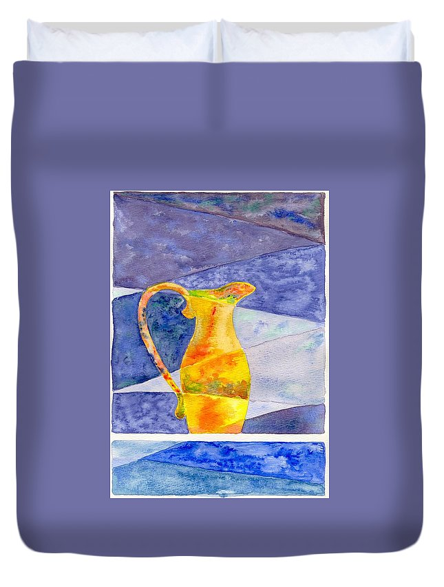 Still Life Duvet Cover featuring the painting Pitcher 1 by Micah Guenther
