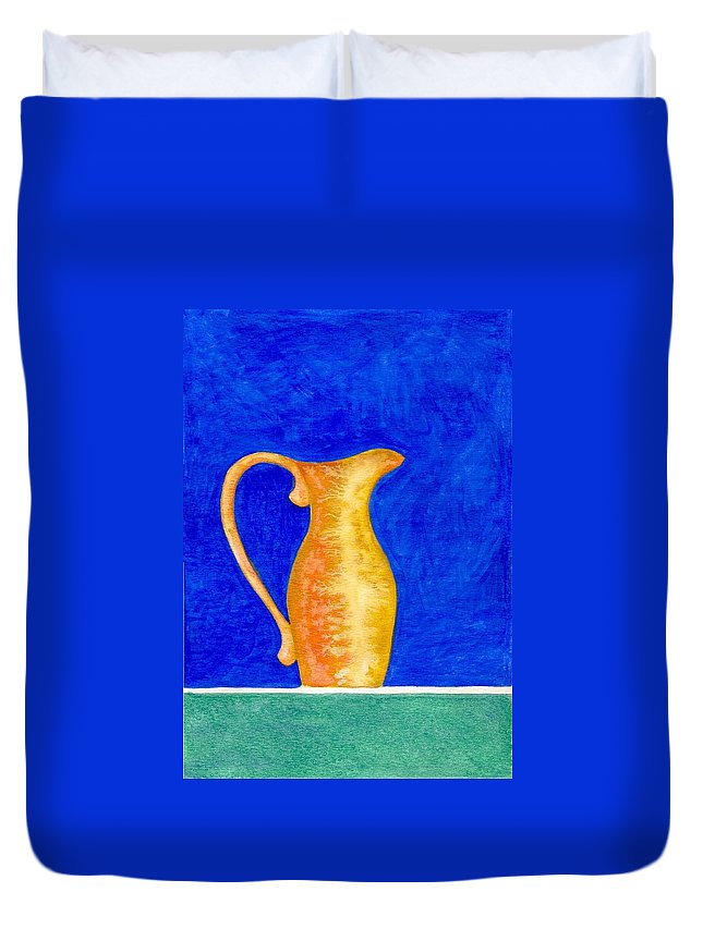 Still Life Duvet Cover featuring the painting Pitcher 2 by Micah Guenther
