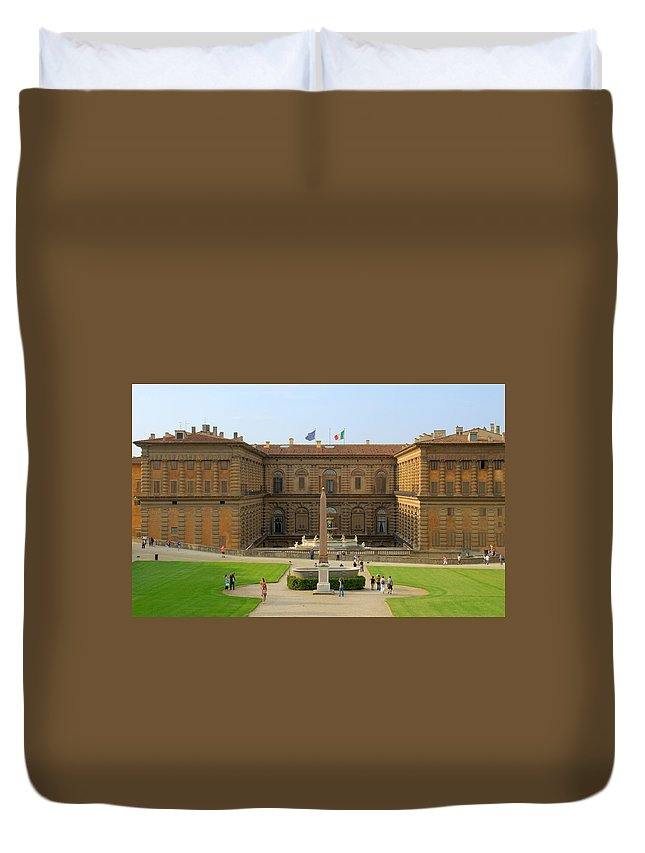 Florence Duvet Cover featuring the photograph Pitti Palace Florence by Caroline Stella