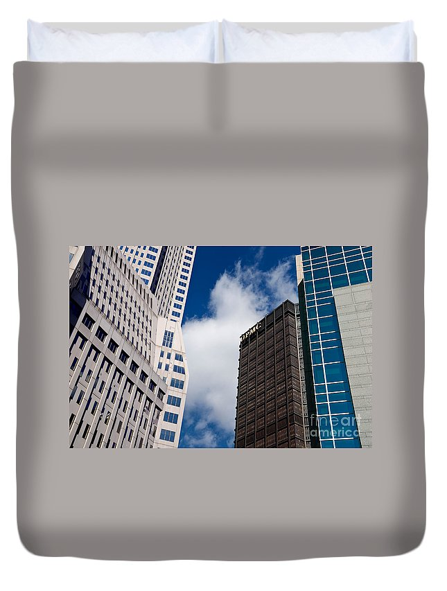 Building Duvet Cover featuring the photograph Pittsburgh Skyscrapers by Amy Cicconi