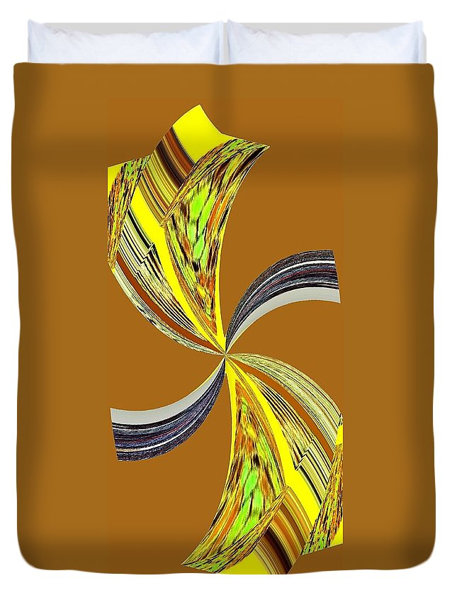 Abstract Duvet Cover featuring the digital art Pizzazz 46 by Will Borden