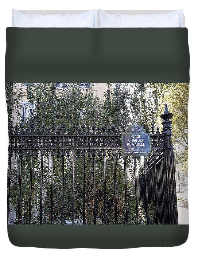 Paris Duvet Cover featuring the photograph Place Charles De Gaulle In Paris France by Richard Rosenshein