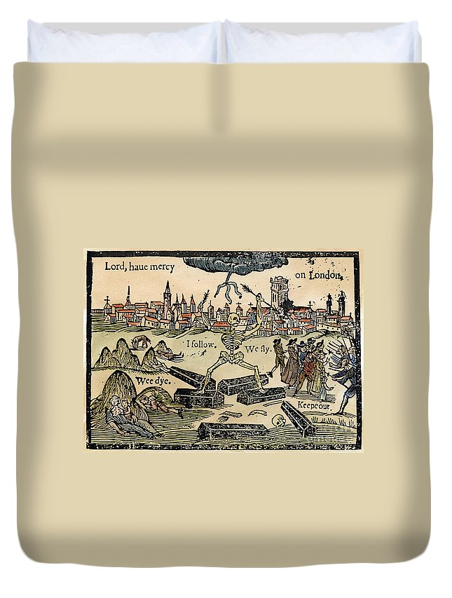 1665 Duvet Cover featuring the photograph Plague Of London, 1665 by Granger