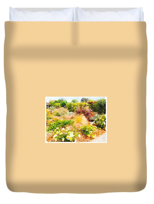 Waterlogue Duvet Cover featuring the digital art Planting Hope by Shannon Grissom