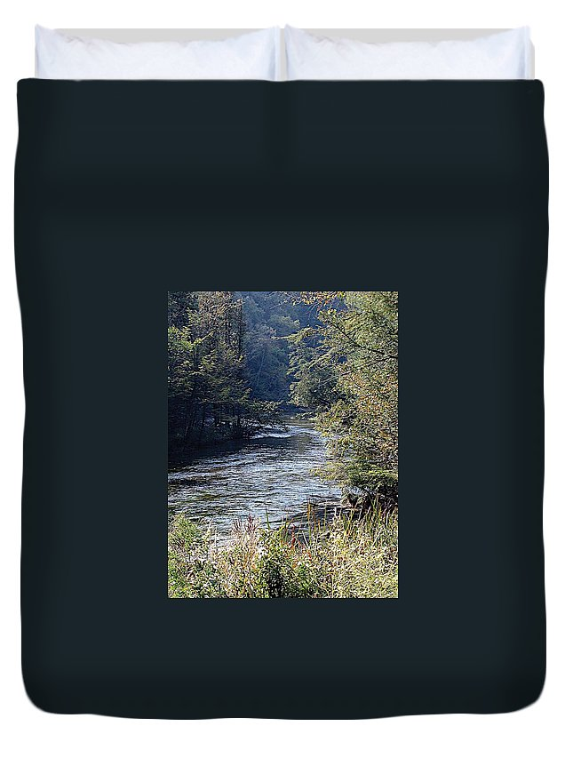 Coho Salmon Duvet Cover featuring the photograph Plate River No 2 by Joseph Yarbrough