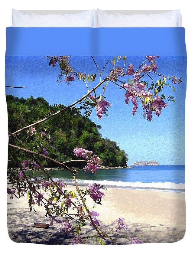 Beach Duvet Cover featuring the photograph Playa Espadillia Sur Manuel Antonio National Park Costa Rica by Kurt Van Wagner