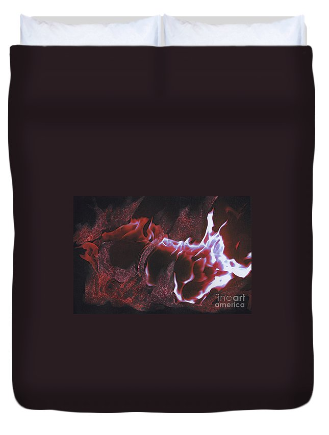 First Star Art Duvet Cover featuring the mixed media Playing With Fire 2 By Jrr by First Star Art