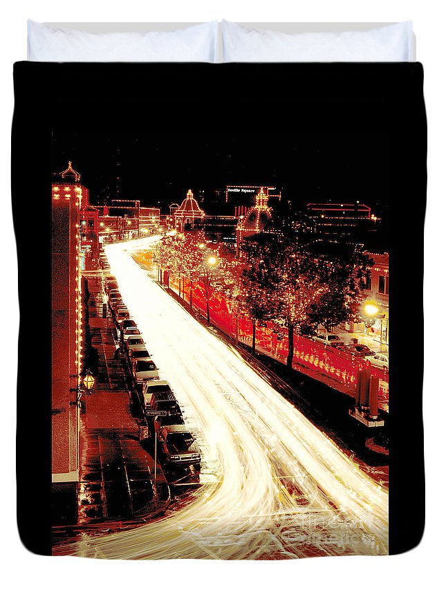 Gary Gingrich Duvet Cover featuring the photograph Plaza Christmas - Kansas City by Gary Gingrich Galleries