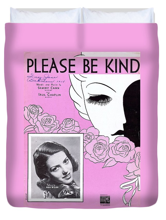 Nostalgia Duvet Cover featuring the photograph Please Be Kind by Mel Thompson