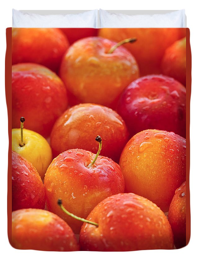 Plums Duvet Cover featuring the photograph Plums by Elena Elisseeva