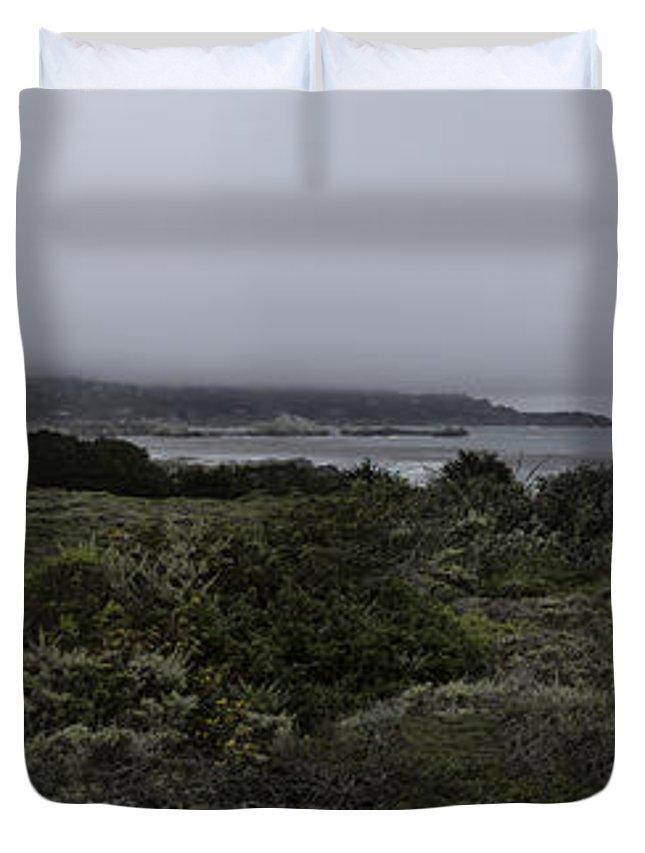 Point Lobos National Park Duvet Cover featuring the photograph Point Lobos National Park by Angela Stanton