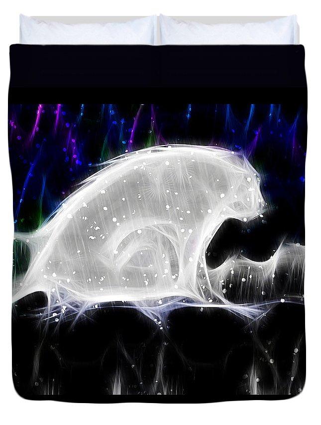 Polar Bear Duvet Cover featuring the digital art Polar And Snow by Shannon Story
