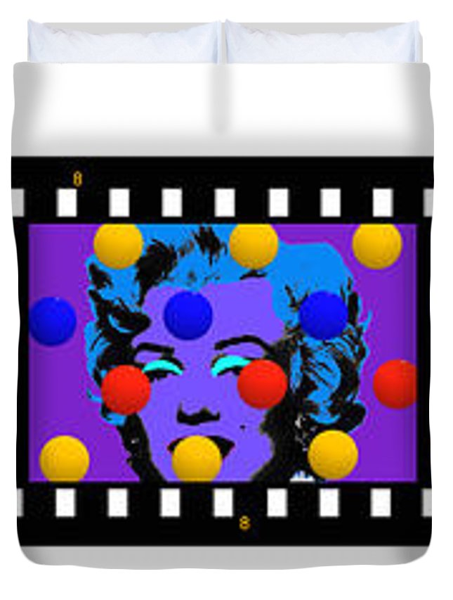 Contact Print Duvet Cover featuring the painting Polychrome Girl by Charles Stuart