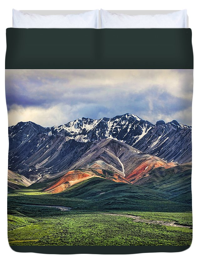 Polychrome Duvet Cover featuring the photograph Polychrome by Heather Applegate