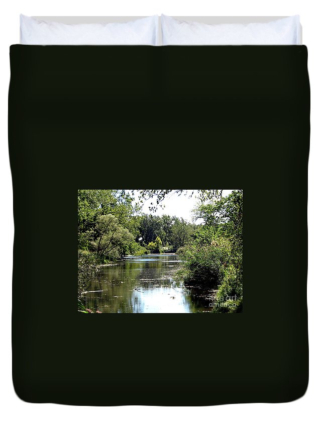 Snakeroot Trail Duvet Cover featuring the photograph Pond At Tifft Nature Preserve Buffalo New York by Rose Santuci-Sofranko