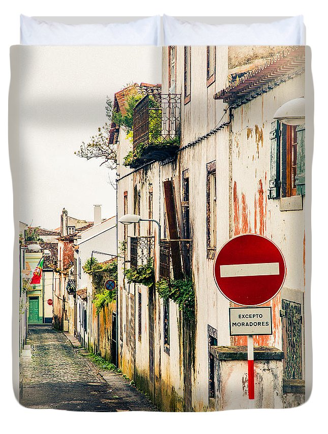 Ponta Delgada Azores Duvet Cover featuring the photograph Ponta Delgada Azores by Rene Triay Photography
