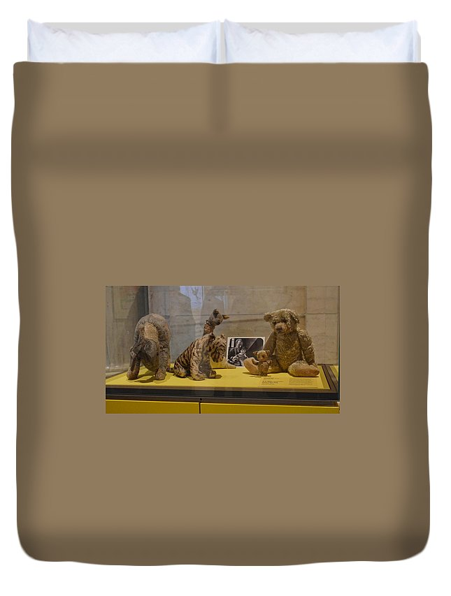 Pooh Duvet Cover featuring the photograph Pooh And Friends by Philip Ralley