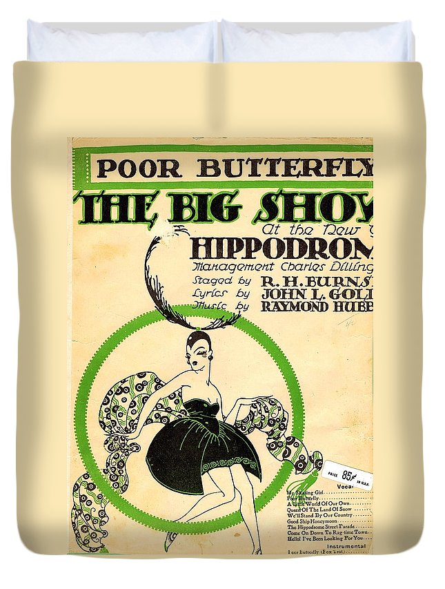 Nostalgia Duvet Cover featuring the photograph Poor Butterfly by Mel Thompson