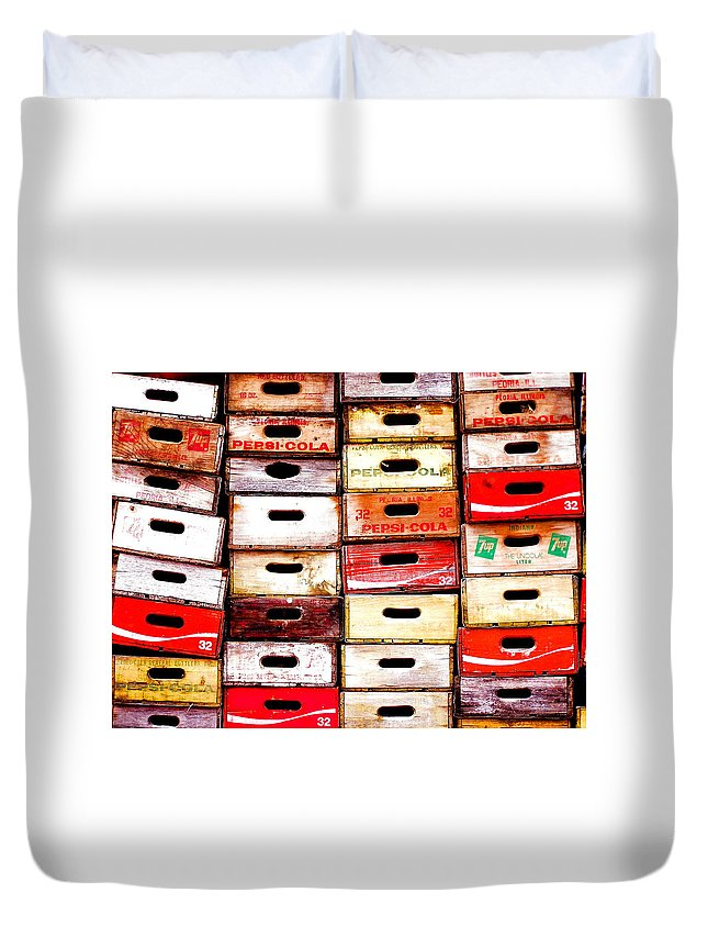 Cola Duvet Cover featuring the photograph Pop Art by M Pace