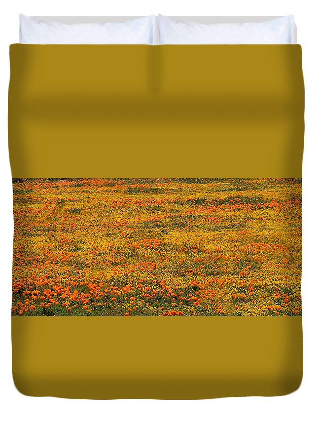 Poppies Duvet Cover featuring the photograph Poppies by Andre Aleksis