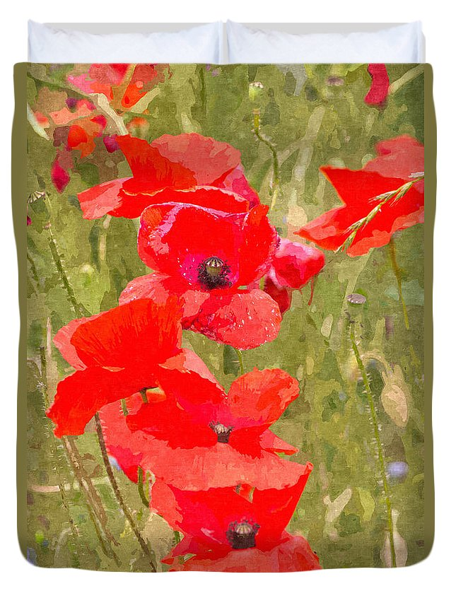 Remembrance Duvet Cover featuring the photograph Poppies Vi by David Pringle