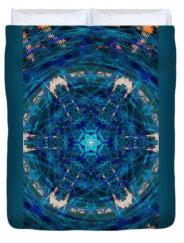 Portal Duvet Cover featuring the painting Portal by Kume Bryant